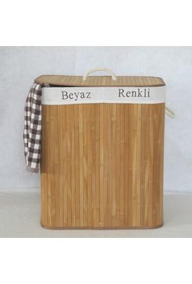 Rem Bambu Katlanır Çift Hazneli Kirli Sepeti -CHK519A