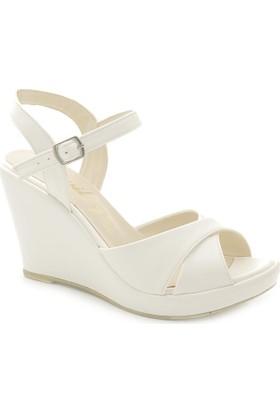 Lady Flat 30321 Dolgu Topuk Kadın Sandalet