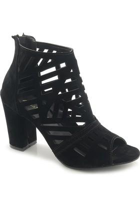 Lady Cashmire 0001 Nubuk Kafes Model Topuklu Ayakkabı