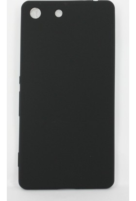 Case 4U Sony Xperia M5 Polo Silikon Kapak Siyah