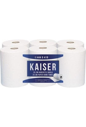 Kaiser Hareketli Havlu 25 cm 110 m 6 Rulo