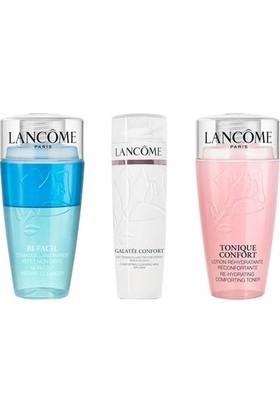 Lancome 3-Step Mini Temizleyici Set ( Bi Facil Eyes , Lait Galatée Confort , Tonique Confort 75 ml )