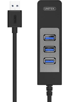 Unitek Y-3045C USB 3.0 3-Port Hub + Gigabit Ethernet Dönüştürücü