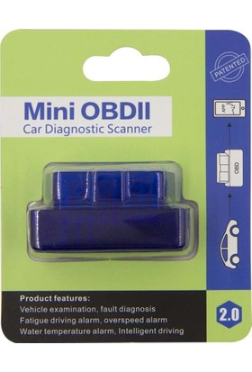 Bluetooth V2.1 Arıza Tespit Cihazı Yeni Mavi Model Özel Kutuda