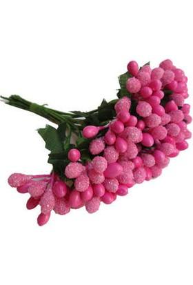 Çiçek Yapay Tomurcuk Çiçek Fuşya 2 cm* 2 cm 12 Dal= 144 Adet