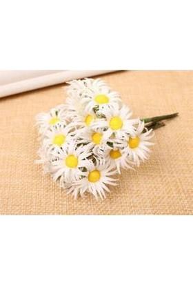 Çiçek Yapay Papatya Çiçek Beyaz 100 adet