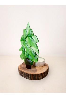 Cam Stüdyosu Doğa'nın rengi - Çam Ağacı mumluk