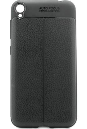 Microcase Zenfone Live ZB501KL Leather Efect Silikon Kılıf + Tempered Cam