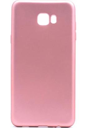 Microcase Samsung Galaxy C7 Pro Premium Soft Silikon Kılıf + Tempered Cam