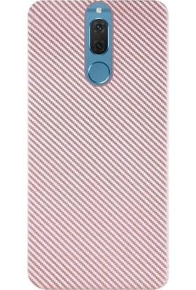 Microcase Huawei Mate 10 Lite Carbon Fiber Silikon TPU Kılıf + Tempered Cam