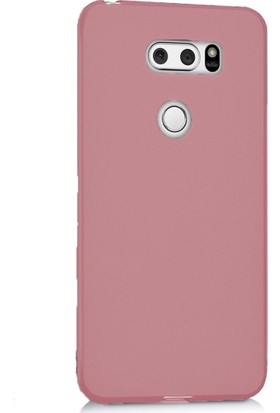 Microcase LG V30 Premium Matte Soft Silikon Kılıf + Tempered Cam