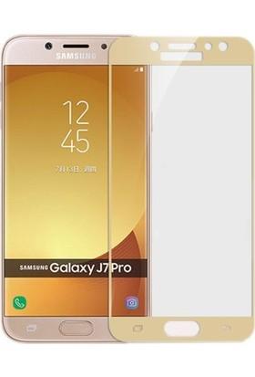 Sunix Samsung Galaxy J7 Pro 3D Kavisli Cam Koruyucu