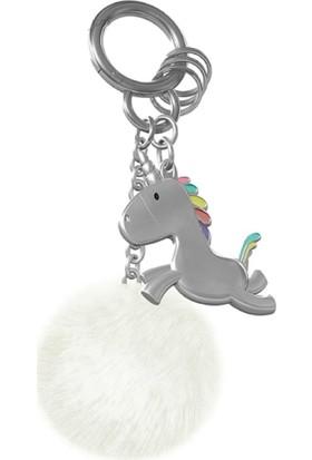 Saygan Unicorn Anahtarlık - Gümüş