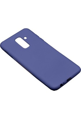 Happyshop Samsung Galaxy A6 Plus 2018 Kılıf Ultra İnce Mat Silikon + Cam Ekran Koruyucu