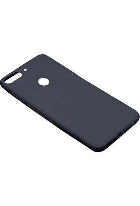 Happyshop HTC Desire 12 Plus Kılıf Ultra İnce Mat Silikon + Cam Ekran Koruyucu