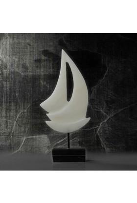 Bayiland Doğal Mermer El İşçiliği Dekoratif Gemi