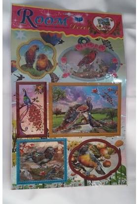 Room Dekor 5D Boyutlu Kuş Figürlü Stickers