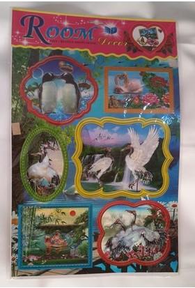 Room Dekor Hayvan Figürlü 5D Stickers