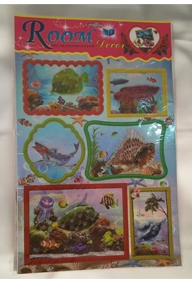 Room Dekor Stickers 5D Balık Figürlü