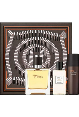 Hermes Terre D'Hermes Pure Parfum Edp 75 ml + Shaving Foam 50 ml + After Shave 40 ml