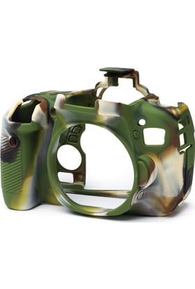 Easycover Canon 760D Silikon Kılıf Ekran Koruyucu (Kamuflaj)