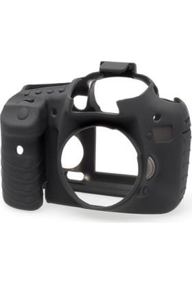 EasyCover Canon 7D Silikon Kılıf + Ekran Koruyucu ( Siyah )