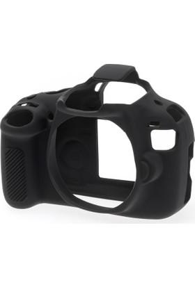 Easycover Canon 1200D Silikon Kılıf Ekran Koruyucu (Siyah)