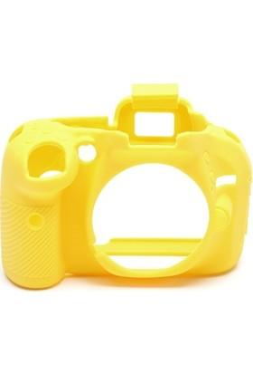 EasyCover Nikon D5200 Silikon Kılıf Ekran Koruyucu ( Sarı )