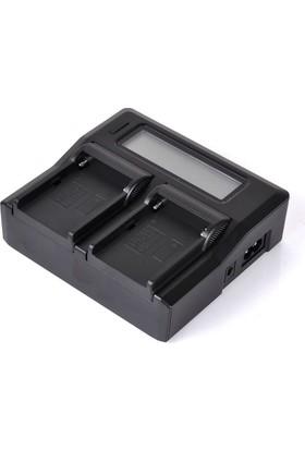 Sony Batarya İkili Dijital Şarj Cihazı (NP F Serisi Uyumlu)