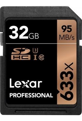 Lexar 32 GB 633x 4K SD Hafıza Kartı (95 mbs)