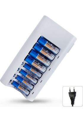 Led Göstergeli 8li Pil Şarj Cihazı (AA AAA Uyumlu)