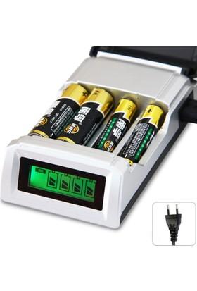 LCD Göstergeli Pil Şarj Cihazı (AA AAA Uyumlu)
