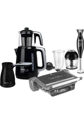 Tefal Elegance Dörtlü Mutfak Seti Tost Çay Kahve Makinası Blender Set