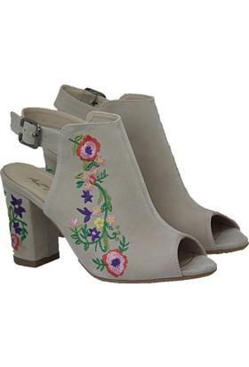 Altuğ Süet Kadın Topuklu Ayakkabı 2 Renk
