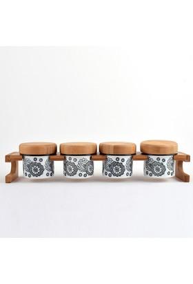 Trendclub Bambu Porselen Baharat Takımı, 4 Parça