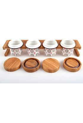 Trendclub Bambu Porselen Baharat Takım, 4 Parça