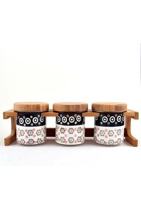 Trendclub Bambu Porselen Baharat Takımı, 3 Parça