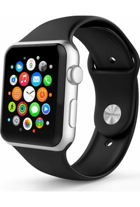 Markacase Apple Watch İçin 42 mm Silikon Kordon - Siyah