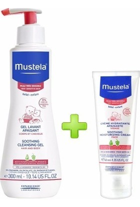 Mustela Soothing Cleansing Gel + Soothing Moisturizing Face Cream
