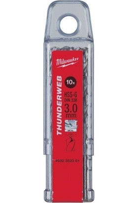 Milwaukee Metal Matkap Ucu Thunderweb Seri 4,0 X 75 mm 10'lu