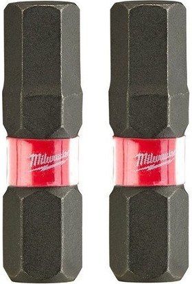 Milwaukee Shockwave Vidalama Bits Ucu (2'li Paket) Hex 4mm