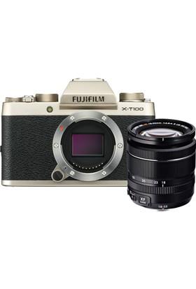 Fujifilm X-T100 + XF 18-55 MM F2.8-4 R LM OIS Kit - Altın