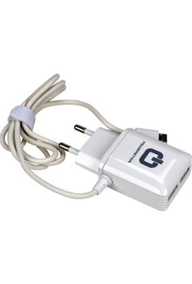 Powerstar Cep Telefonu Hızlı Şarj Aleti 2.4 Amper 2 Adet USB
