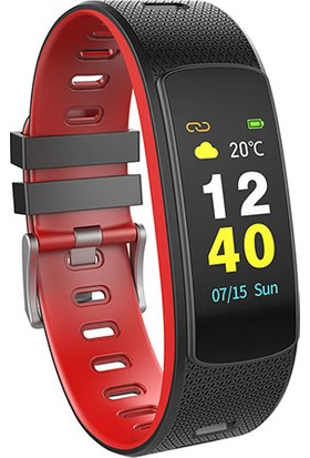 Everest Ever Fit W45 Full Dokunmatik Renkli Ekran Kırmızı/Siyah Akıllı Bileklik