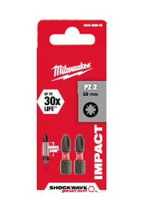Milwaukee Bits Uç Ph2 25 mm 2'li Paket Shockwave