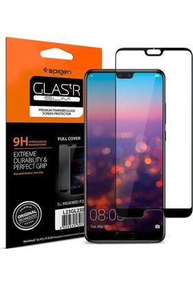 Spigen Huawei P20 Cam Ekran Koruyucu Tam Kaplayan Full Cover Black - L21GL23079