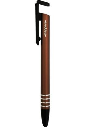 Ceppen Çok Fonksiyonlu Tükenmez Kalem-Cep telefonu-tablet kalemi. Mat Bronz(