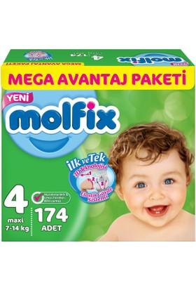 Molfix 3D Maxi 4 Beden 174 Adet Mega Avantaj Paket