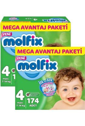 Molfix 3D Maxi Mega Avantaj Paketi 4 Beden 348 Adet