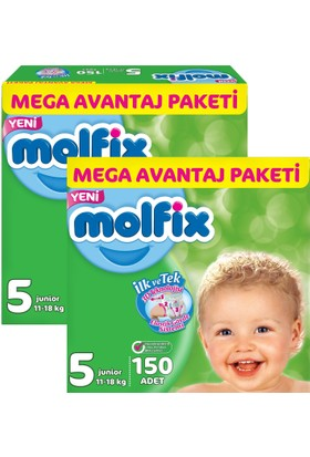 Molfix 3D Junior Mega Avantaj Paketi 5 Beden 300 Adet